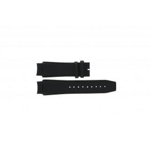Dolce & Gabbana Uhrenarmband 3719770097 Leder Schwarz 20mm + schwarzen nähte