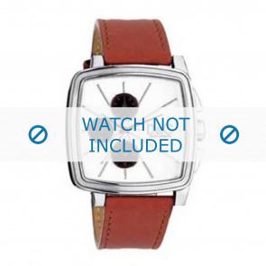 Dolce & Gabbana Uhrenarmband DW0105 Leder Orange + orange nähte