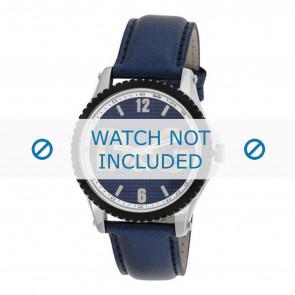 Dolce & Gabbana Uhrenarmband DW0709 Leder Blau 20mm + blauen nähte