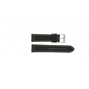 Davis Uhrenarmband BB1020 Leder Schwarz 22mm