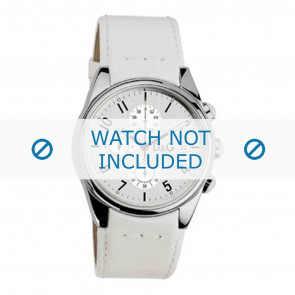 Dolce & Gabbana Uhrenarmband 3719770084 Leder Weiss 20mm + weiße nähte