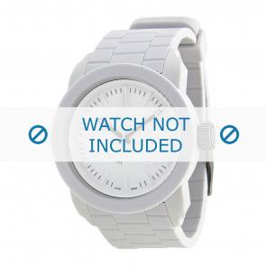 Diesel Uhrenarmband DZ1436 / DZ1439 / DZ1437 / DZ1438 Silikon Weiss 24mm