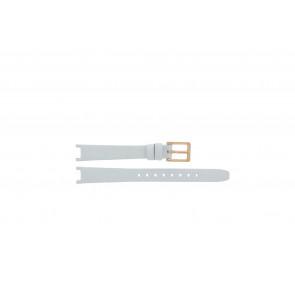 DKNY Uhrenarmband NY8784 Leder Weiss 13mm + standardnähte