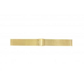 Uhrenarmband Universal MESH-DOUBLE-18MM Stahl Vergoldet 18mm