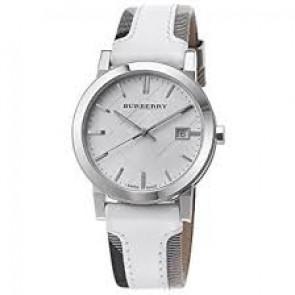 Uhrenarmband Burberry BU9019 Leder Weiss