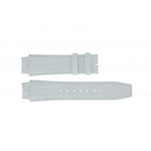 Uhrenarmband Dolce & Gabbana DW0257 Leder Weiss 18mm