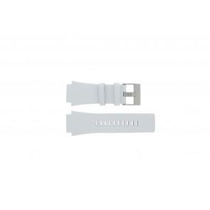 Diesel Uhrenarmband DZ1449 Leder Weiss 25mm