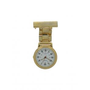E968 Unisex Krankenschwester Uhr Stahl Gold (Doublé)