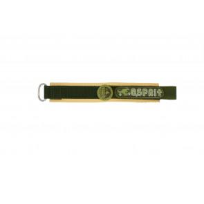 Esprit Uhrenarmband ES101333002U Klettband Grün 16mm + braunen nähte