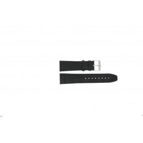 Jacques Lemans Uhrenarmband FC29 / 9-201 Leder Schwarz 23mm + schwarzen nähte