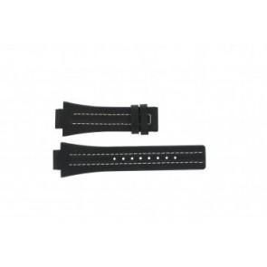 Festina Uhrenarmband F16185 / 1 Leder Schwarz 16mm + weiße nähte
