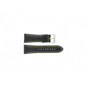 Festina Uhrenarmband F16235/7 Leder Schwarz 28mm + gelben Nähten