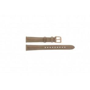 Fossil Uhrenarmband ES-3487 Leder Braun 14mm