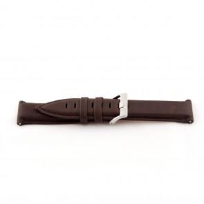Echtes Leder Uhrenarmband mittelbraun 22mm EX-G119