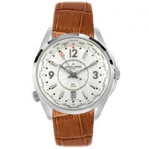 Jacques Lemans Uhrenarmband GU200 / G175 Leder Cognac 23mm + braunen nähte