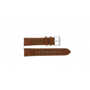 Hugo Boss Uhrenarmband HB-188-1-14-2672 / HB1513118 Leder Cognac 22mm + braunen nähte