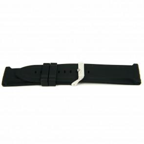 Uhrenarmband Gummi 26mm Schwarz EX K63 26 2 26