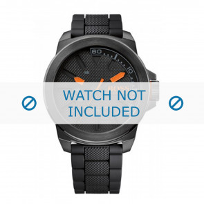 Hugo Boss Uhrenarmband HO1513004 / HB-221-1-34-2625 Kautschuk Schwarz 24mm