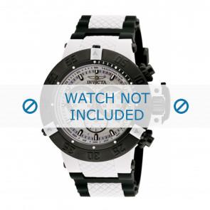 Invicta Uhrenarmband 0933 Kunststoff Weiss 29mm