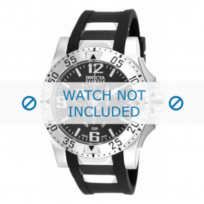 Invicta Uhrenarmband 18202.01  Kautschuk Schwarz