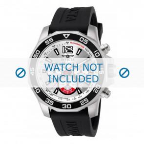 Invicta Uhrenarmband 7430 Kautschuk Schwarz 22mm