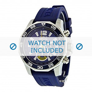 Invicta Uhrenarmband 7431 Kautschuk Blau 22mm