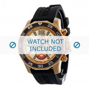 Invicta Uhrenarmband 7432 Kautschuk Schwarz 22mm