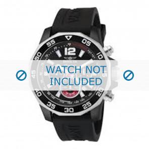 Invicta Uhrenarmband 7433 Kautschuk Schwarz 22mm