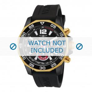 Invicta Uhrenarmband 7434 Kautschuk Schwarz 22mm