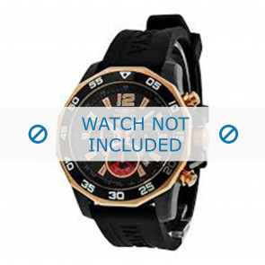 Invicta Uhrenarmband 7435 Kautschuk Schwarz 22mm