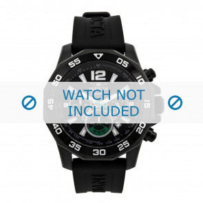 Invicta Uhrenarmband 7436 Kautschuk Schwarz 22mm