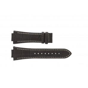 Jaguar Uhrenarmband J625/4 / J620 / J620-4 Leder Braun 28mm + weiße nähte