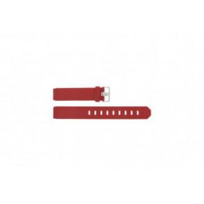 Uhrenarmband Jacob Jensen 751 SERIE Kautschuk Rot 17mm