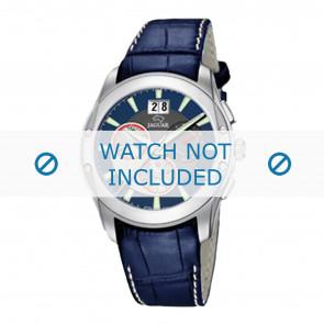 Jaguar Uhrenarmband J615-2 Leder Blau 22mm + weiße nähte