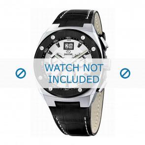 Jaguar Uhrenarmband J620/1 Leder Schwarz 16mm + weiße nähte