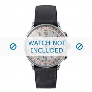 Junghans Uhrenarmband 027/3380.00 Leder Schwarz 21mm + standardnähte