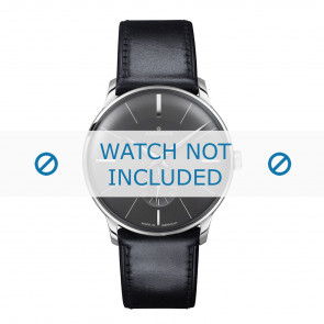 Junghans Uhrenarmband 027/3503.00 Leder Schwarz 20mm + standardnähte