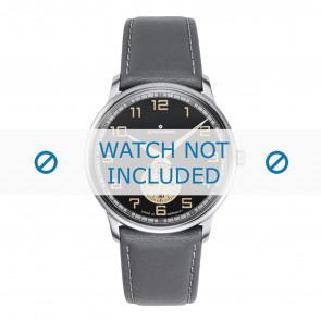 Junghans Uhrenarmband 027/3607.00 Leder Grau 20mm + weiße nähte