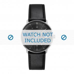 Junghans Uhrenarmband 041/4462.00 Leder Schwarz 20mm + standardnähte