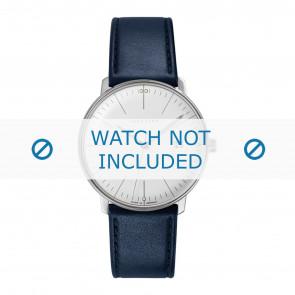 Uhrenarmband Junghans 041/4464.00 Leder Blau 20mm
