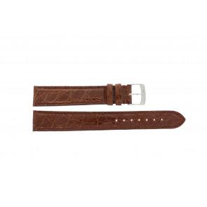 Morellato Uhrenarmband Amadeus XL G.Croc Gl K0518052041CR18 / PMK041AMADEU18 Krokodilhaut Braun 18mm + standardnähte