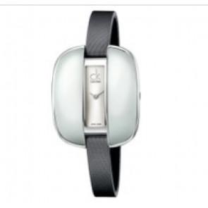 Calvin Klein Uhrenarmband K2E236-K600000084 Leder Grau 9mm