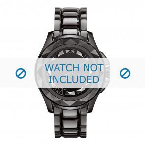 Karl Lagerfeld Uhrenarmband KL1001 Metall Schwarz 10mm