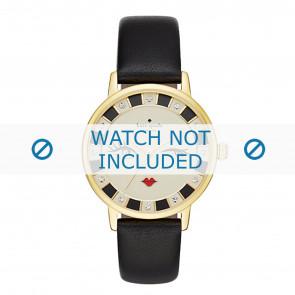 Kate Spade New York Uhrenarmband KSW1052 / METRO Leder Schwarz