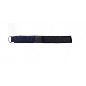 Uhrenarmband Universal KLITTENBAND 412R 14mm Klettband Blau 14mm