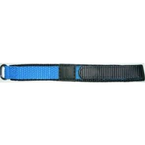 Uhrenarmband Universal KLITTENBAND 412R Licht Blauw Klettband Blau 14mm