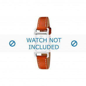 Lacoste Uhrenarmband 2000310 / LC-05-3-14-0006 Leder Orange 12mm + weiße nähte