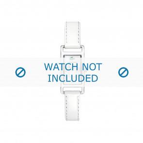 Lacoste Uhrenarmband 2000367 / LC-05-3-19-0066 Leder Weiss 12mm + weiße nähte