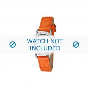 Lacoste Uhrenarmband 2000513 / LC-05-3-14-0167 Leder Orange 13mm + orange nähte