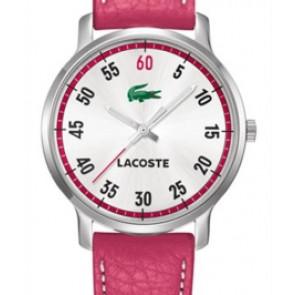 Uhrenarmband Lacoste 2000567 / LC-41-3-14-2199 Leder Rosa 20mm